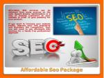 affordable seo package