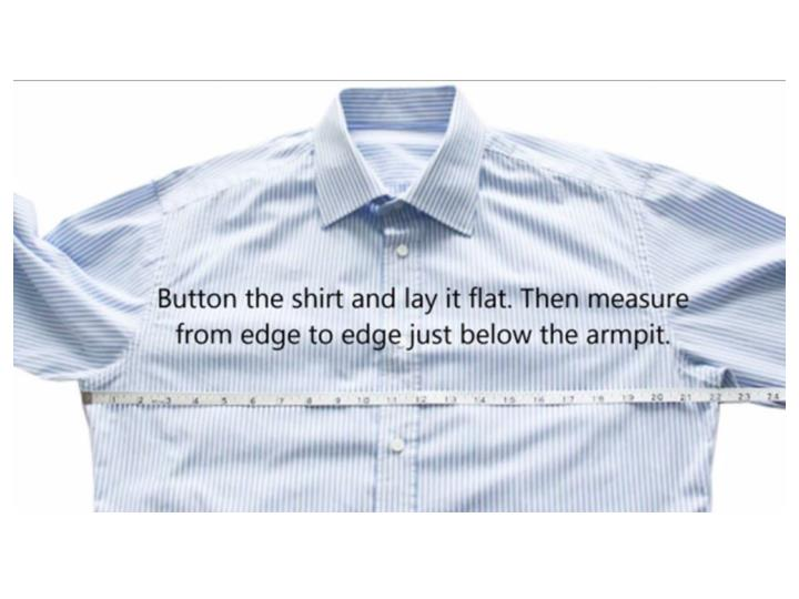 Custom shirt s measurement for best fitting