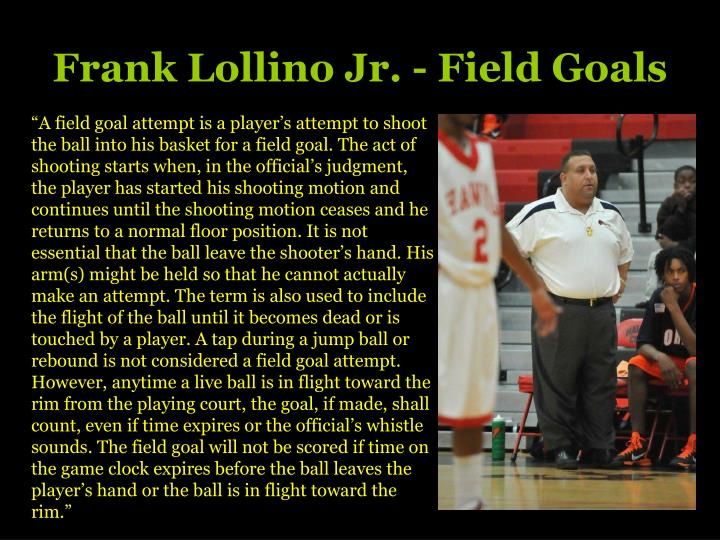 Frank lollino jr field goals