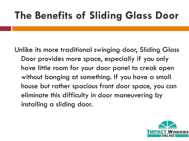 The Benefits of Sliding Glass