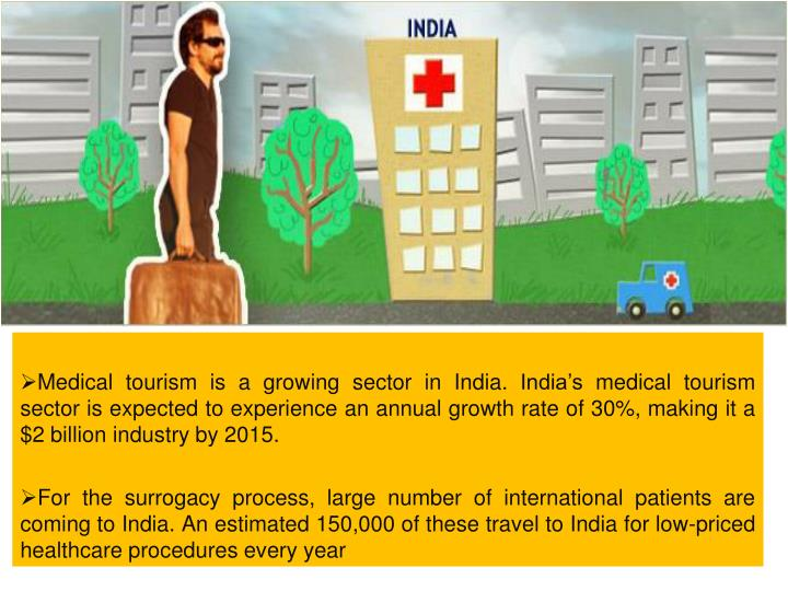 Medical tourism is a growing sector in India. India's medical tourism sector is expected to exper...