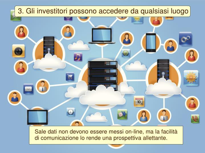 3. Gli investitori possono accedere da qualsiasi luogo