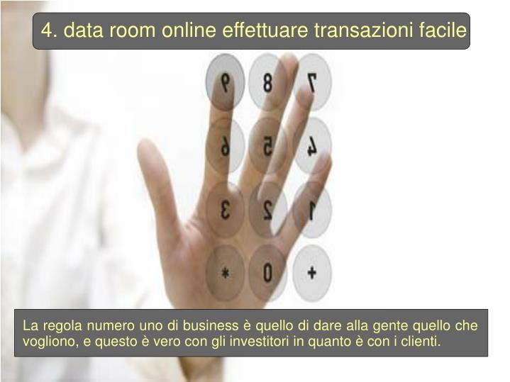 4. data room online effettuare transazioni facile