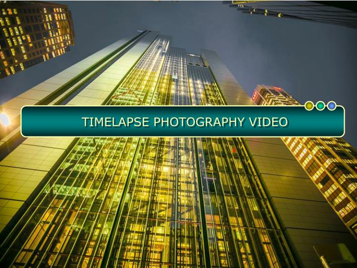 Timelapse photography video