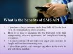 what is the benefits of sms api