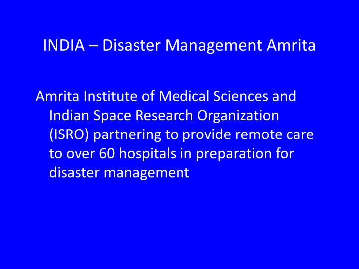 INDIA – Disaster Management Amrita