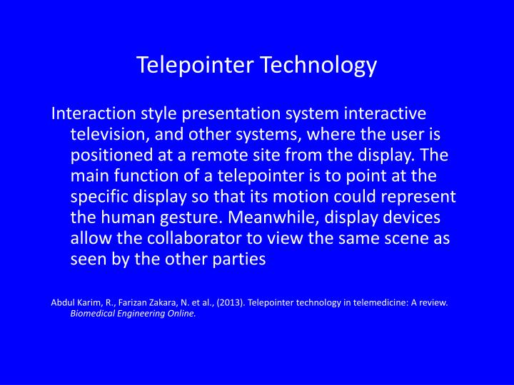 Telepointer Technology