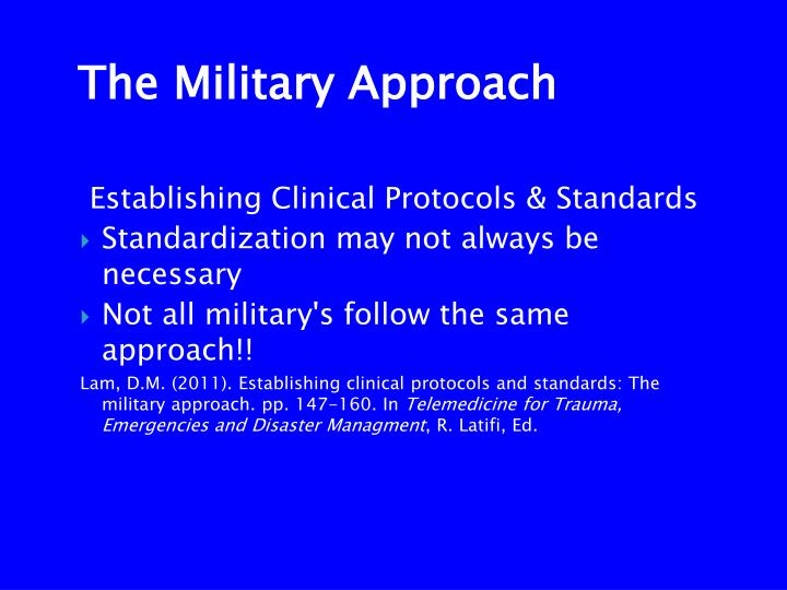 Establishing Clinical Protocols & Standards
