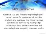 atpr introduction