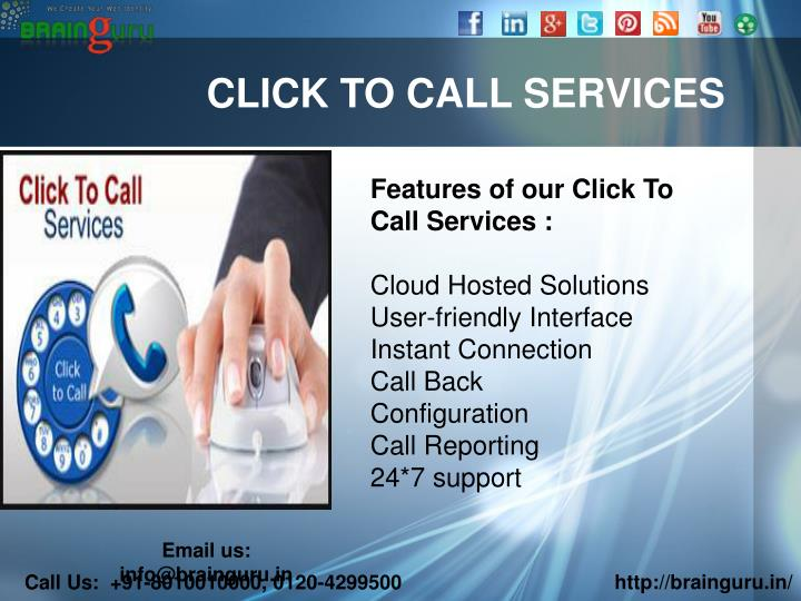 CLICK TO CALL SERVICES
