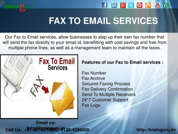 FAX TO EMAIL SERVICES