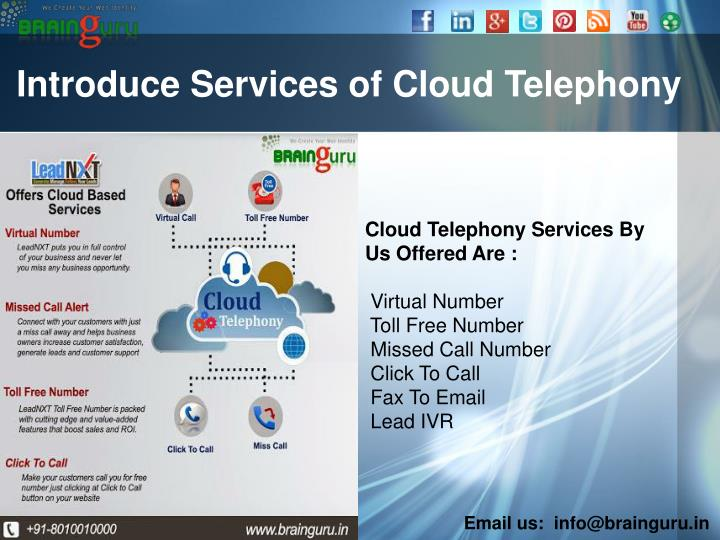 Introduce services of cloud telephony