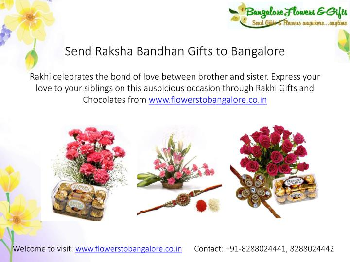 Send Raksha Bandhan Gifts to Bangalore
