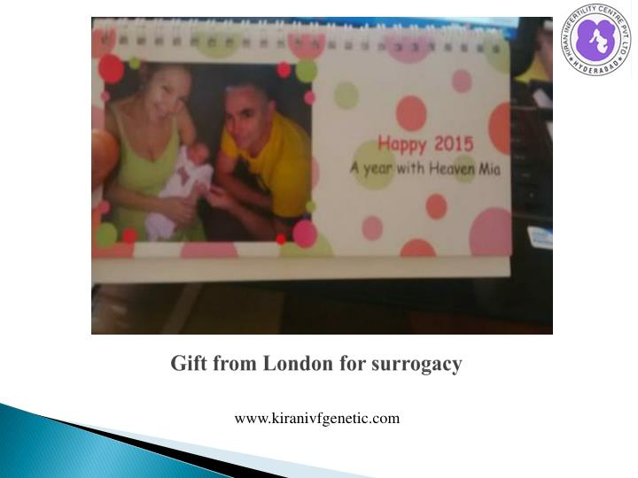 Gift from London for surrogacy