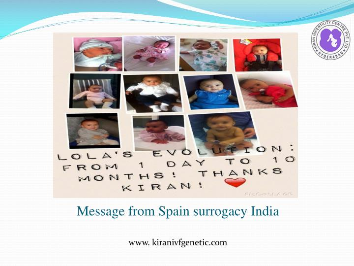 Message from Spain surrogacy India