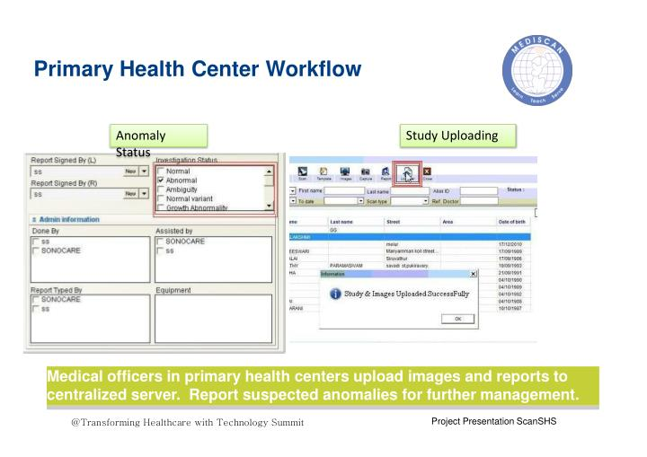 Primary Health Center Workflow