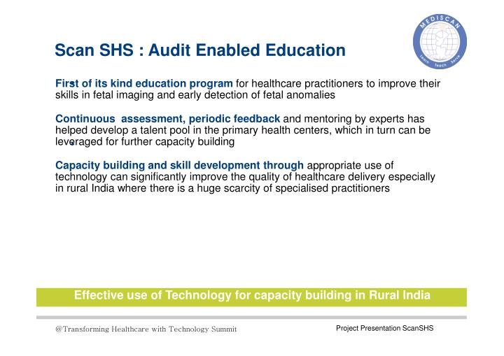 Scan SHS : Audit Enabled Education
