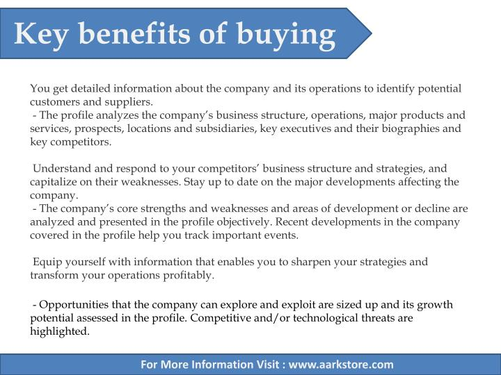 Key benefits of buying