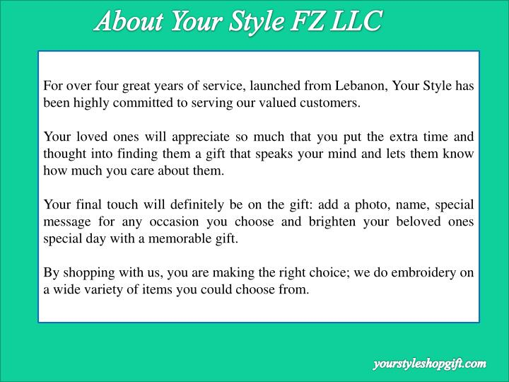 About Your Style FZ LLC