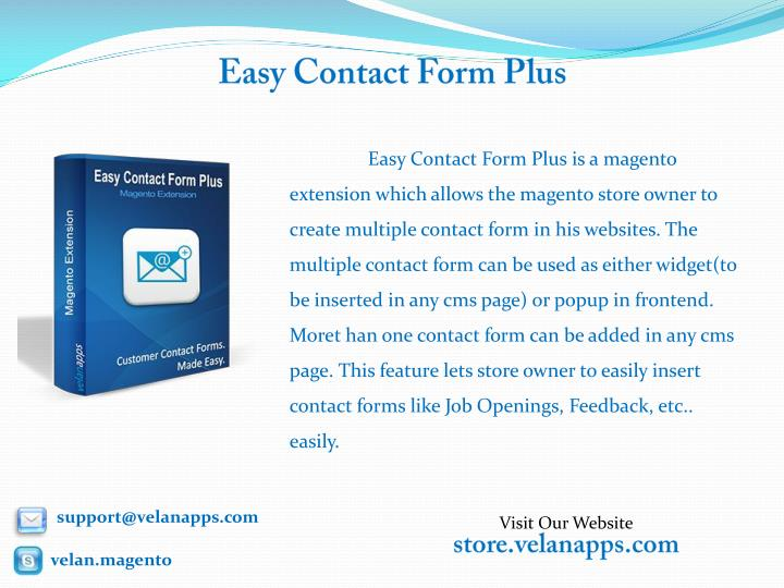 Easy contact form plus