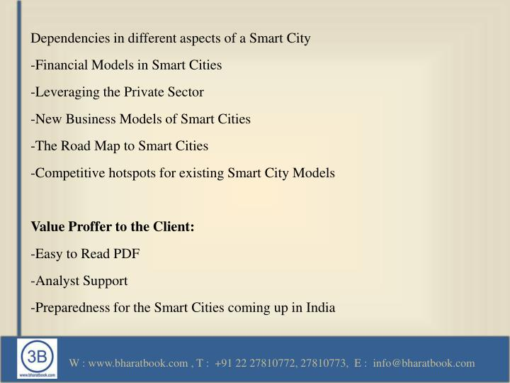 Dependencies in different aspects of a Smart City