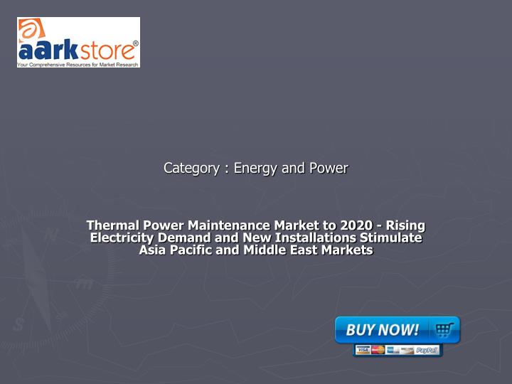 Category energy and power