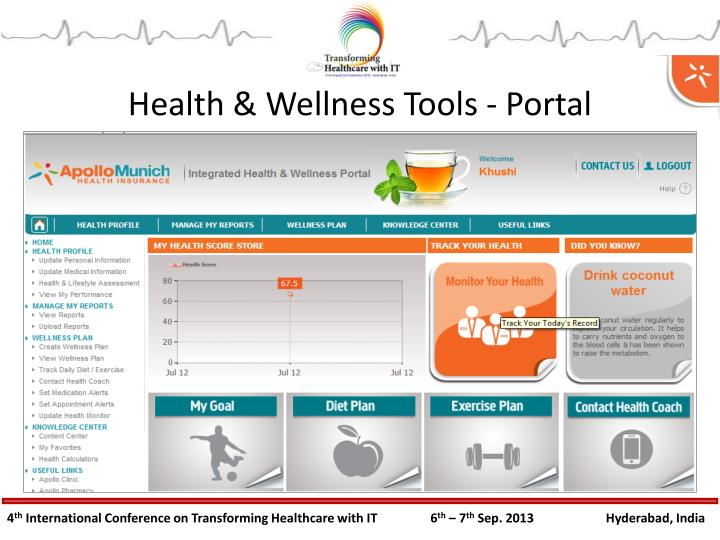 Health & Wellness Tools - Portal