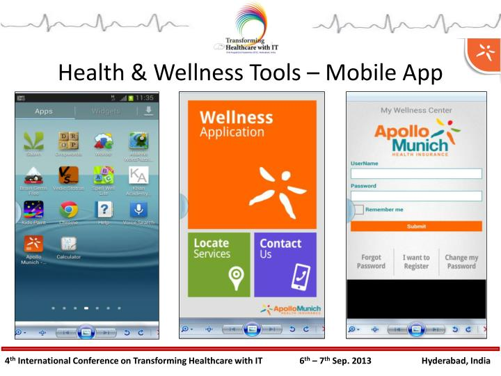 Health & Wellness Tools – Mobile App
