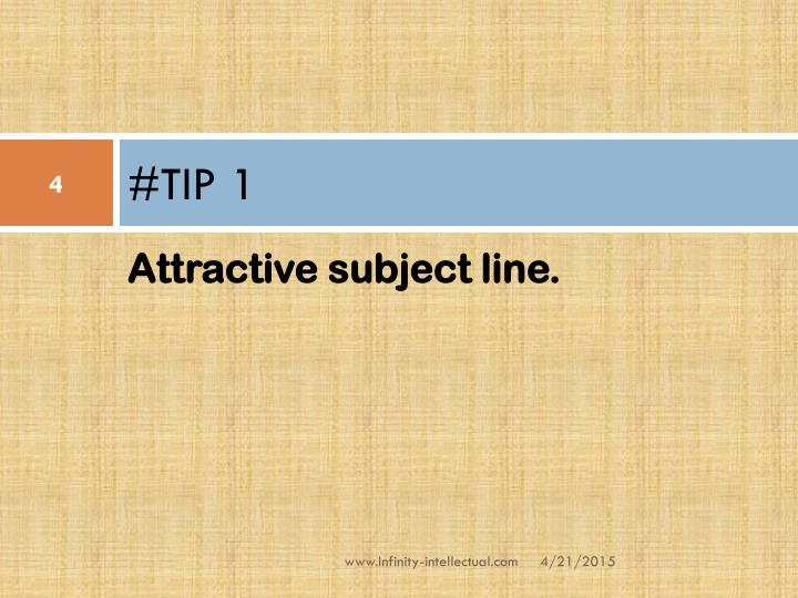 #TIP 1