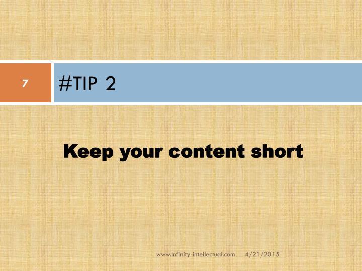 #TIP 2