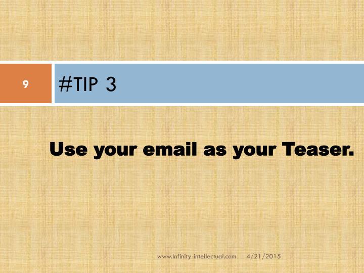 #TIP 3