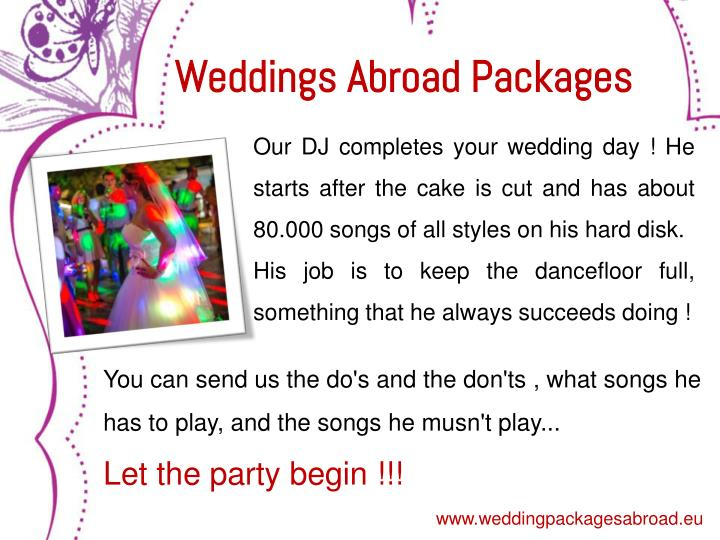 Weddings Abroad Packages
