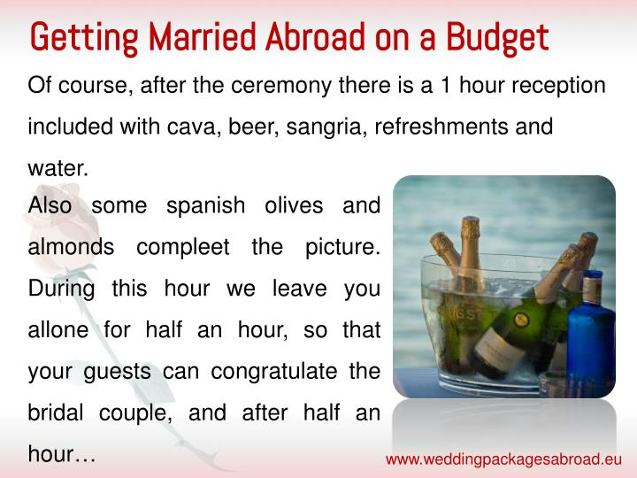 Getting Married Abroad on a Budget
