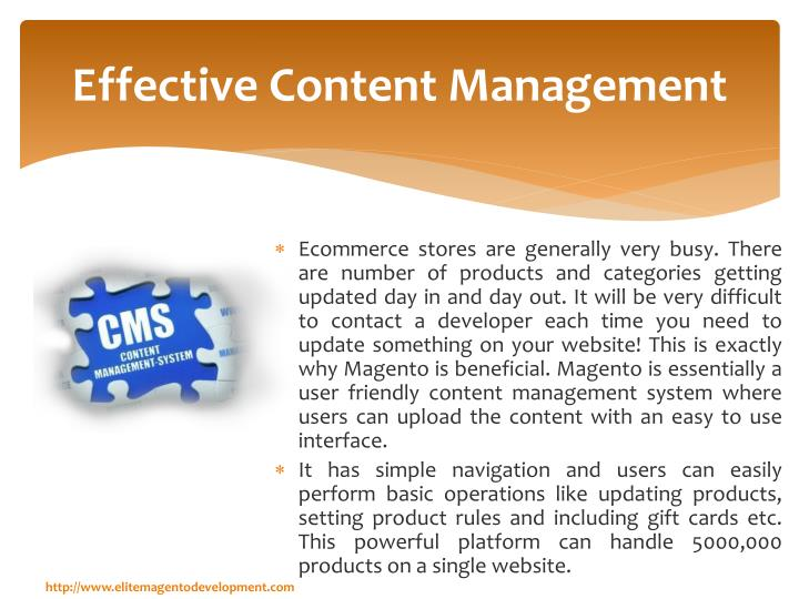 Effective content management