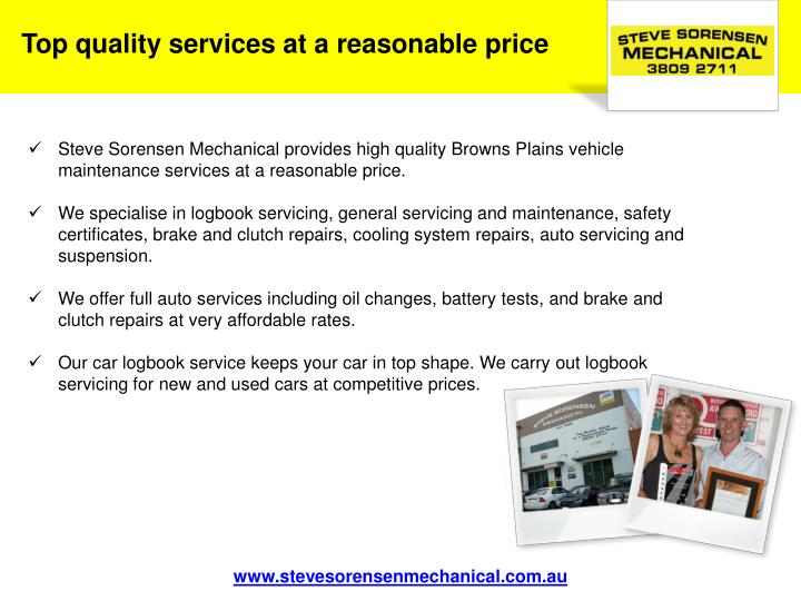 Top quality services at a reasonable price