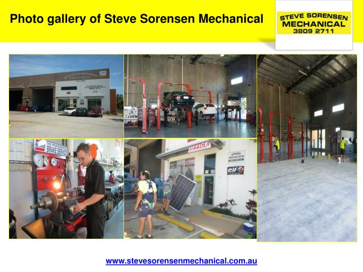 Photo gallery of Steve Sorensen Mechanical