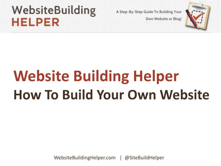 Website Building Helper
