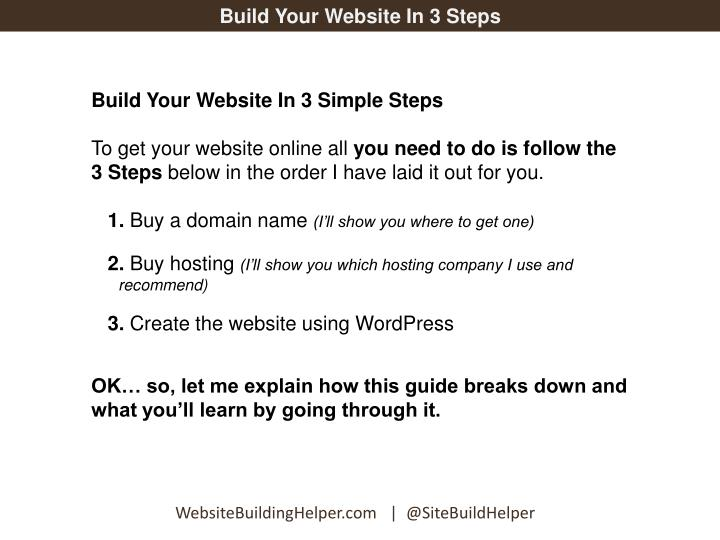 Build Your Website In 3 Steps