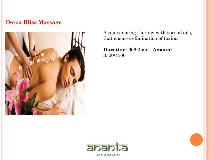 Detox Bliss Massage