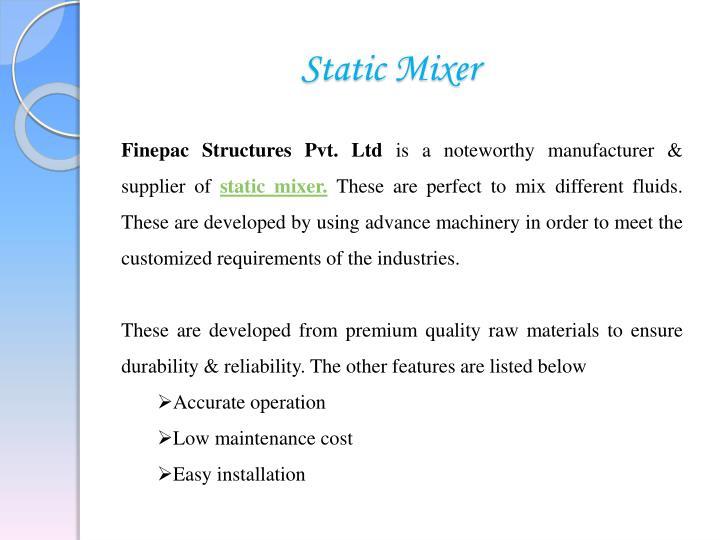 Static Mixer