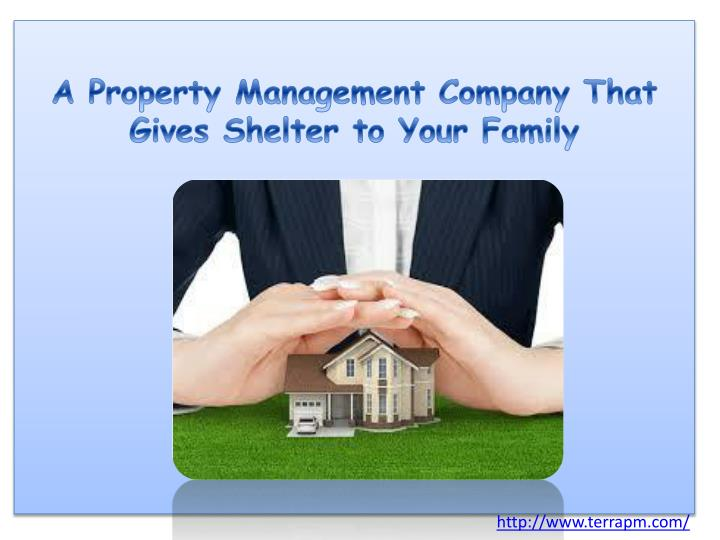 A Property Management Company That Gives Shelter to Your