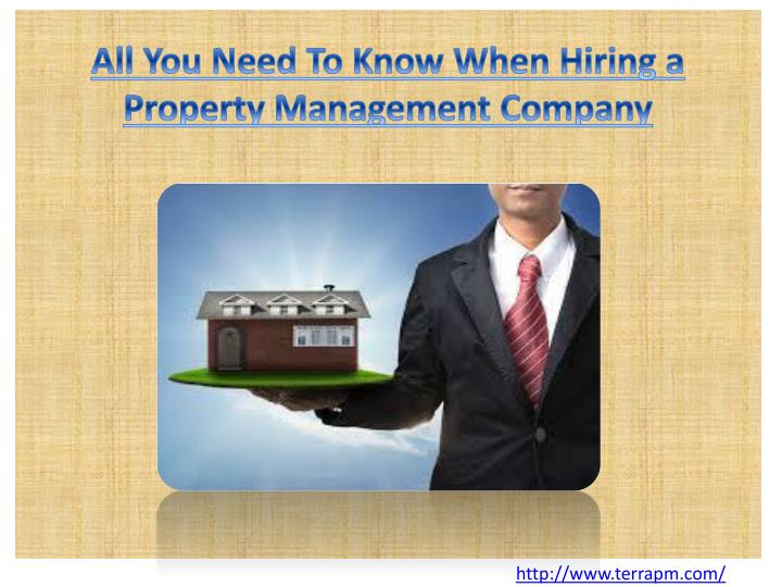 All you need to know when hiring a property management company