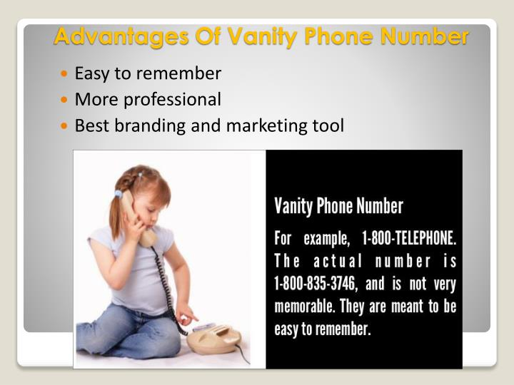 Advantages of vanity phone number