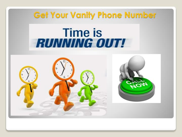 Get Your Vanity Phone Number
