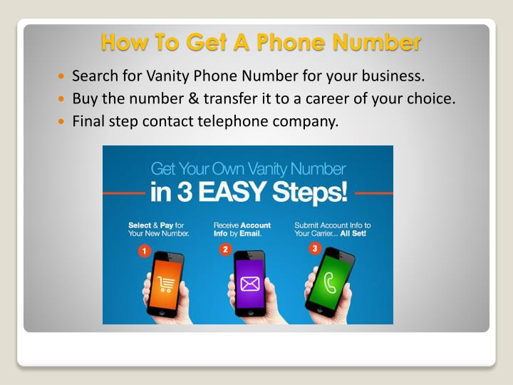 Search for Vanity Phone Number for your business.