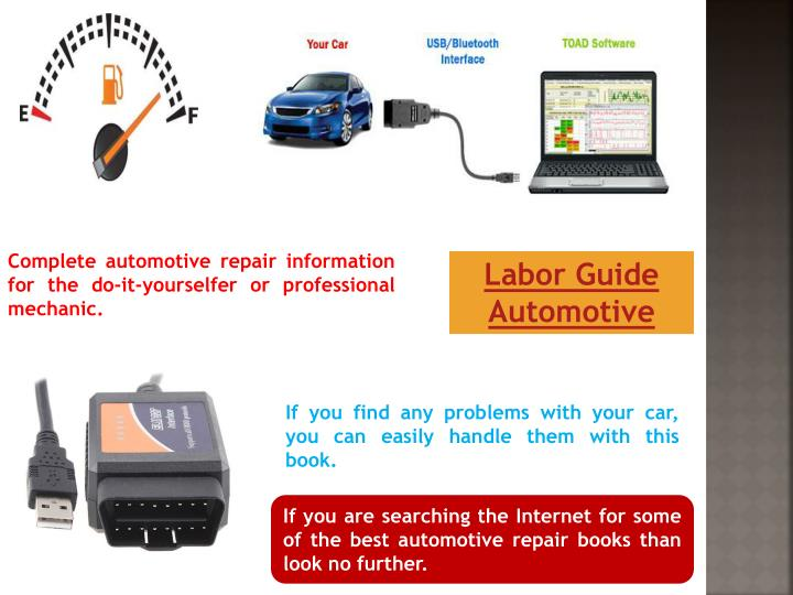 Complete automotive repair information for the do-it-yourselfer or professional mechanic.