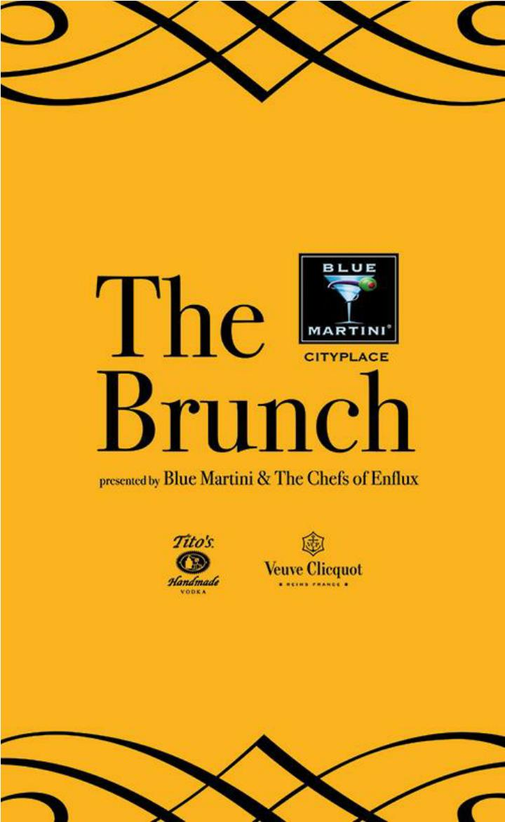 The brunch presented by blue martini the chefs of enflux