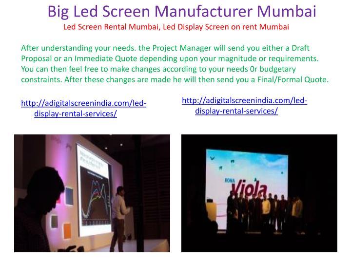 Big Led Screen Manufacturer