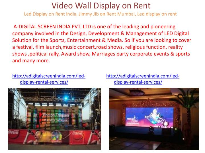 Video Wall Display on Rent