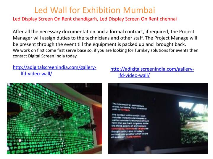 Led Wall for Exhibition Mumbai